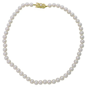 thumbnail image of Mikimoto 18k Gold 6.5mm to 7mm Pearl Necklace