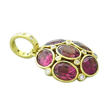 thumbnail image of Temple St. Clair 18k Gold Pink Tourmaline Diamond Nirvana Pendant