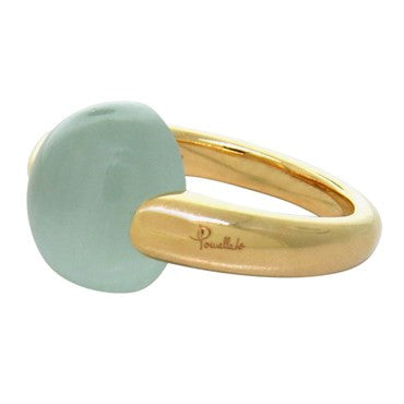 image of New Pomellato Luna 18k Gold Aquamarine Ring