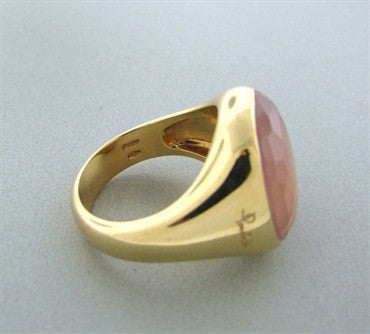 thumbnail image of Estate Pomellato Cipria 18k Gold Rose Quartz Ring