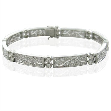 image of Simon G 18k White Gold Diamond Bracelet