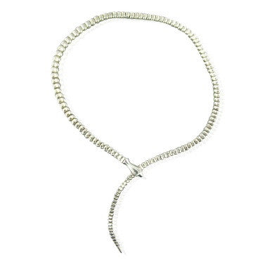image of Tiffany & Co Elsa Peretti Snake Sterling Necklace
