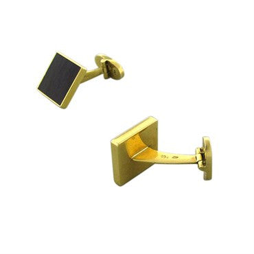 image of Estate Gubelin 18K Yellow Gold Wood Cufflinks