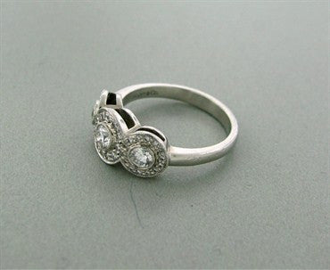 thumbnail image of Tiffany & Co Circlet Platinum Diamond Ring