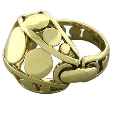 image of John Hardy Dots Collection 18K Yellow Gold Dome Ring