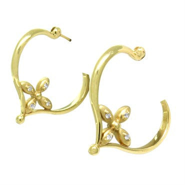 thumbnail image of Temple St Clair 18k Gold Diamond Earrings