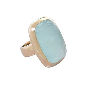 image of New Pomellato 18k Gold Aquamarine Ring