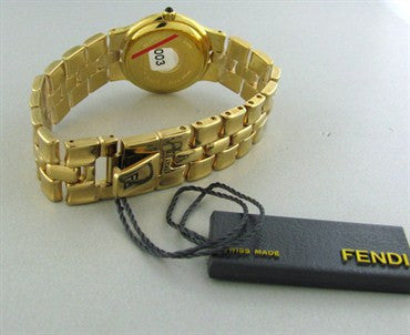 thumbnail image of New Fendi Gold Tone Ladies Watch F88240