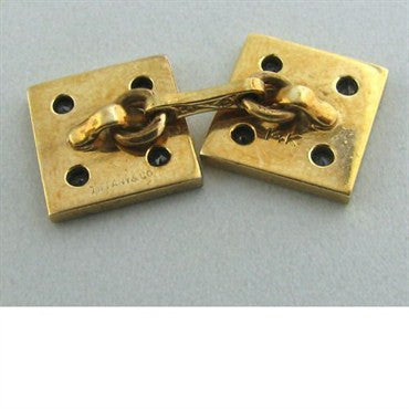 thumbnail image of Vintage Tiffany & Co Gold Sapphire Cufflinks Stud Set