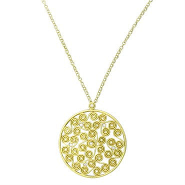 image of Roberto Coin Mauresque 18k Gold Diamond Pendant Necklace