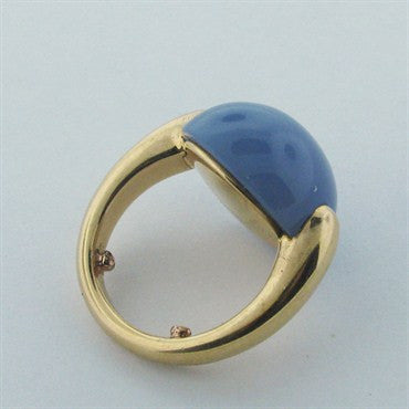 thumbnail image of Estate Pomellato Luna 18k Gold Chalcedony Ring