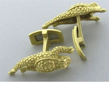 thumbnail image of Kieselstein Cord 18k Gold Frog Cufflinks