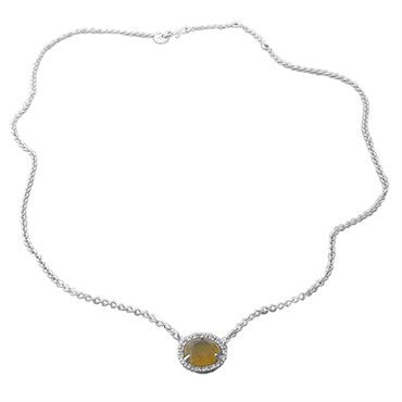 thumbnail image of Pomellato Colpo Di Fulmine 18K Gold Diamond Citrine Pendant Necklace