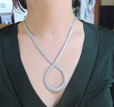 image of Magnificent Stephen Webster 11 Carat Diamond 18k Gold Necklace