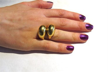 thumbnail image of Tiffany & Co. Rare 18k Gold Cuff Ring Set