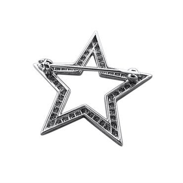 image of Tiffany & Co Stars Collection Platinum Diamond Brooch Pin