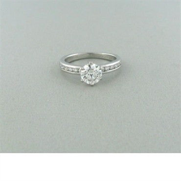 thumbnail image of Tiffany & Co Platinum 0.92ctw Diamond Engagement Ring