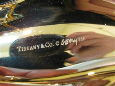thumbnail image of Huge Estate Tiffany & Co Gehry 18k Gold Fish Necklace