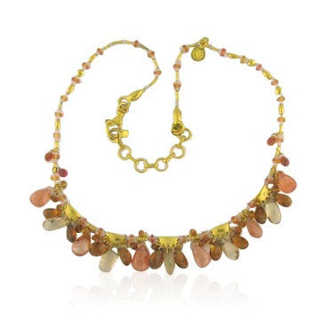 thumbnail image of New Gurhan 24k Gold 64.13ct Gem Stone Necklace