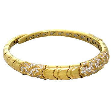 image of Marina B Diamond Gold Collar Necklace