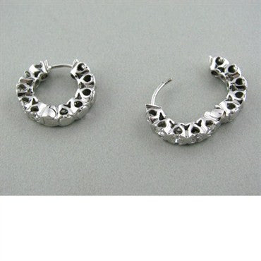 image of Gerard 18k White Gold Diamond Hoop Earrings