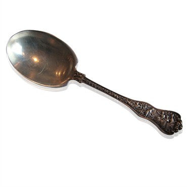 image of Antique Tiffany & Co Olympian Sterling Silver Berry Casserole Server