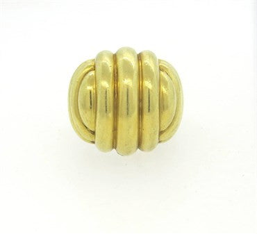 image of Bold Large Tambetti 18k Gold Dome Ring