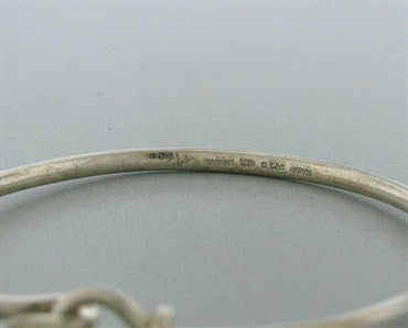 image of Estate Georg Jensen Torun Sterling Silver Bangle Bracelet 242