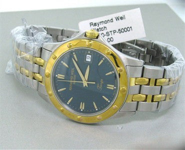 image of Raymond Weil Mens Blue Dial Tango Quartz Watch 5590 STP 50001