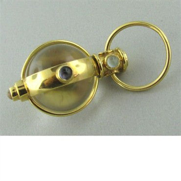 image of Temple St. Clair 18k Gold Crystal Gem Amulet Pendant