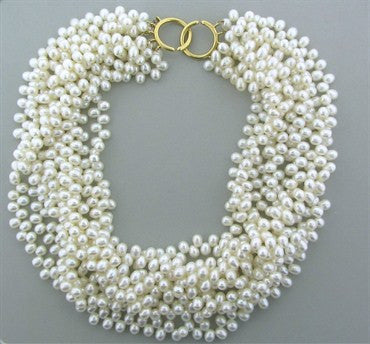 thumbnail image of Tiffany & Co Paloma Picasso 18K Gold Pearl Torsade Necklace