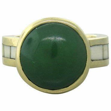 thumbnail image of Theodore Drendel Jade 14K Gold Ring