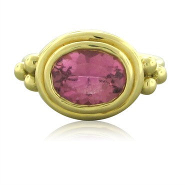 thumbnail image of New Temple St. Clair 18K Gold Pink Tourmaline Ring
