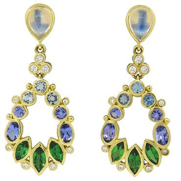 image of Temple St. Clair Anima Diamond Moonstone Tsavorite Aquamarine Earrings