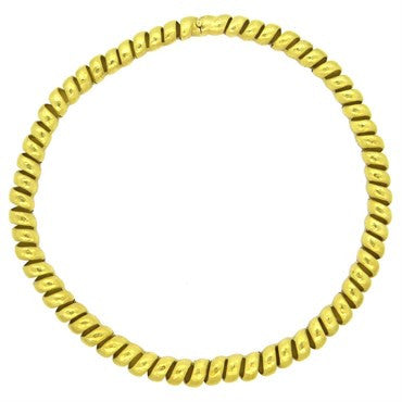thumbnail image of H. Stern 18k Gold Spiral Hammered Finish Necklace