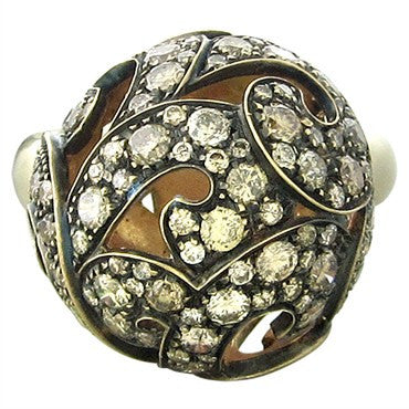 thumbnail image of Preziosismi 18K Gold 3.10ctw Fancy Diamond Ball Ring