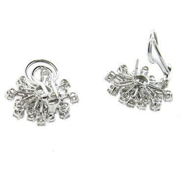 thumbnail image of Classic 4.80ctw Diamond Gold Cocktail Earrings