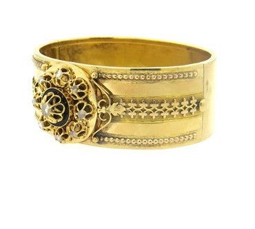 thumbnail image of Antique Victorian Diamond Gold Bangle Bracelet
