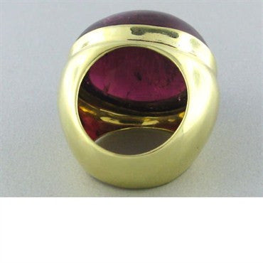 image of Faraone Mennella 18k Gold Pink Tourmaline Ring