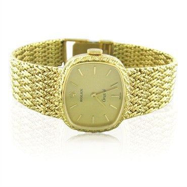 thumbnail image of Lady's Vintage Rolex Orchid 18K Gold Watch With Gold Bracelet 50g