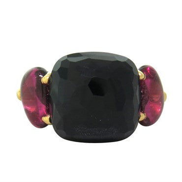 image of Pomellato Capri Onyx Pink Tourmaline Gold Ring