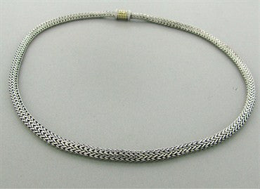 thumbnail image of John Hardy Sterling Silver 18k Yellow Gold Dots Necklace