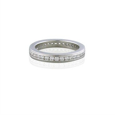 thumbnail image of Hearts On Fire Multiplicity Eternity Milgrain Diamond Band Ring