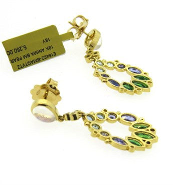 thumbnail image of Temple St. Clair Anima Diamond Moonstone Tsavorite Aquamarine Earrings