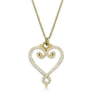 thumbnail image of Tiffany & Co Picasso Venezia Goldoni 18K Gold Diamond Heart Necklace