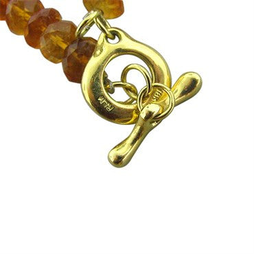 image of Robert Lee Morris 18k Gold Citrine Necklace