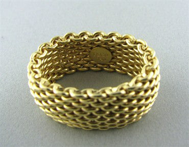 thumbnail image of Tiffany & Co 18K Yellow Gold Somerset Ring