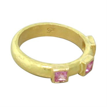 image of Elizabeth Locke 19k Gold Pink Tourmaline Ring