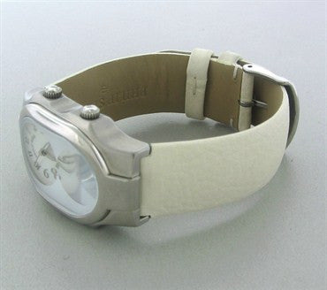 image of Philip Stein Teslar Dual Time Mother Of Pearl Dial Ladies Watch