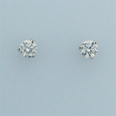 thumbnail image of Hearts On Fire 18k Gold 0.33ct Diamond Stud Earrings